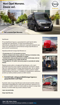 newsletter Opel Movano